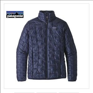 New Patagonia Micro Puff Jacket- classic blue- M